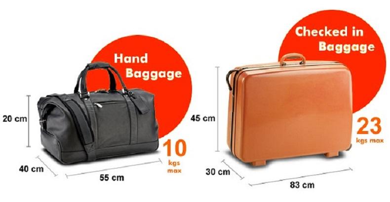 Kích thước hành lý đi máy bay