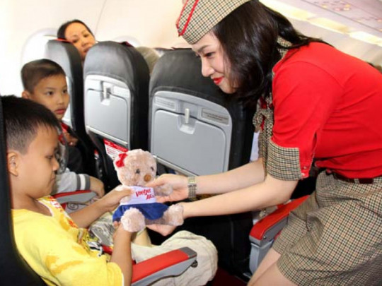 Dịch vụ cung cấp của Vietjet Air với đối tượng khách hàng là trẻ em