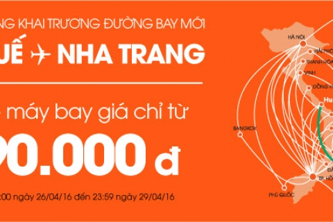 Khuyến Mại Toàn Mạng Bay,  Vé máy bay giá chỉ từ 90.000 đồng!