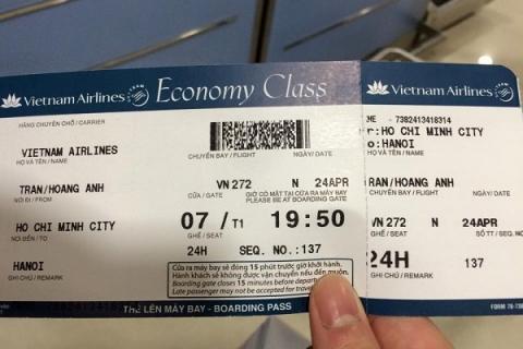 Phân biệt vé máy bay thật hay giả
