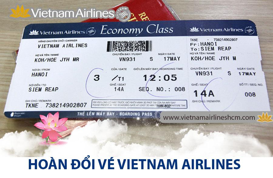 Quy định mới về việc hoàn đổi vé của Vietnam Airlines